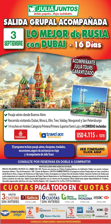 Dubai y lo mejor de Rusia