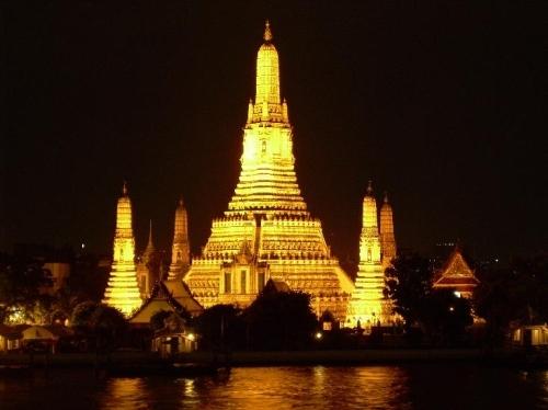 Foto del templo Wat Arum en la ciudad de Bangkok