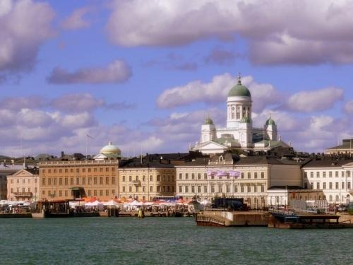 Foto del puerto de Helsinki