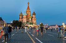 Imagen de la Plaza Roja en Moscú