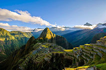 Imagen de Machu Picchu al amancer