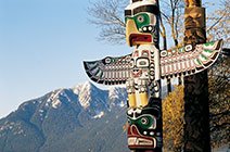 Imagen de tótem en Vancouver