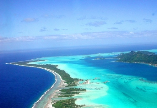 Foto de la laguna de Bora Bora